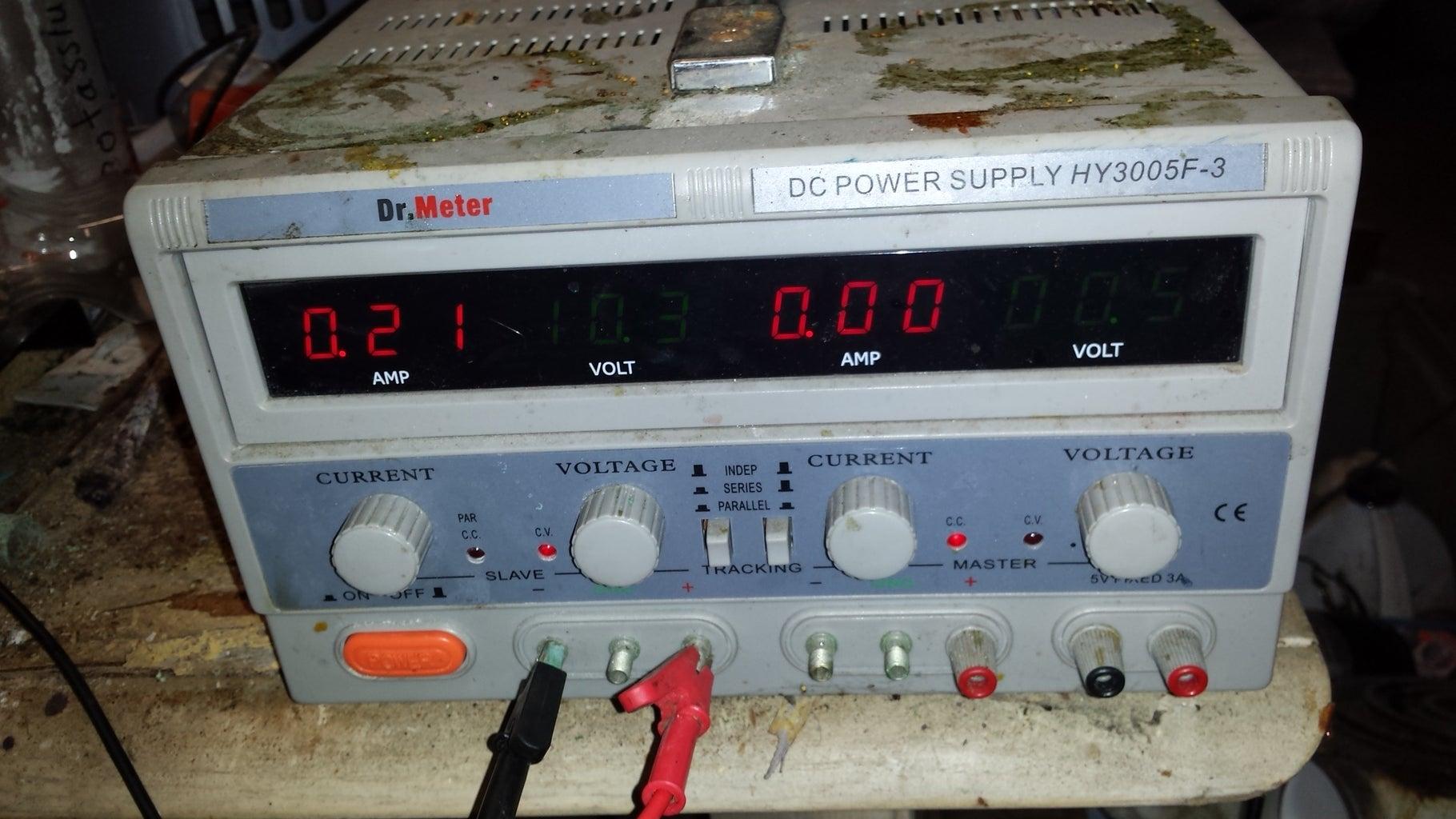 Prep Work for Electroplating.