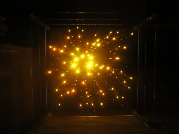3-dimensional Star Cluster: Acrylic + LED Light Sculpture