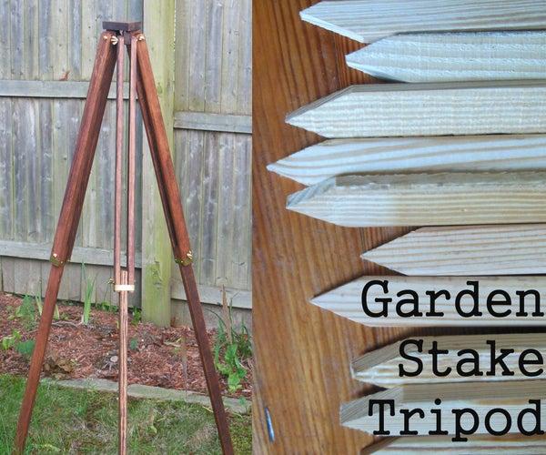 Vintage Style Garden Stake Tripod