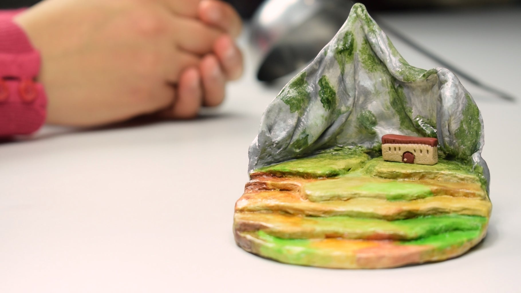 Creation of Buildings, Trees and Agricultural Land With Polymer Clay