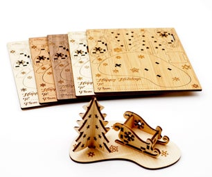 Laser Cut 3D Holiday Cards