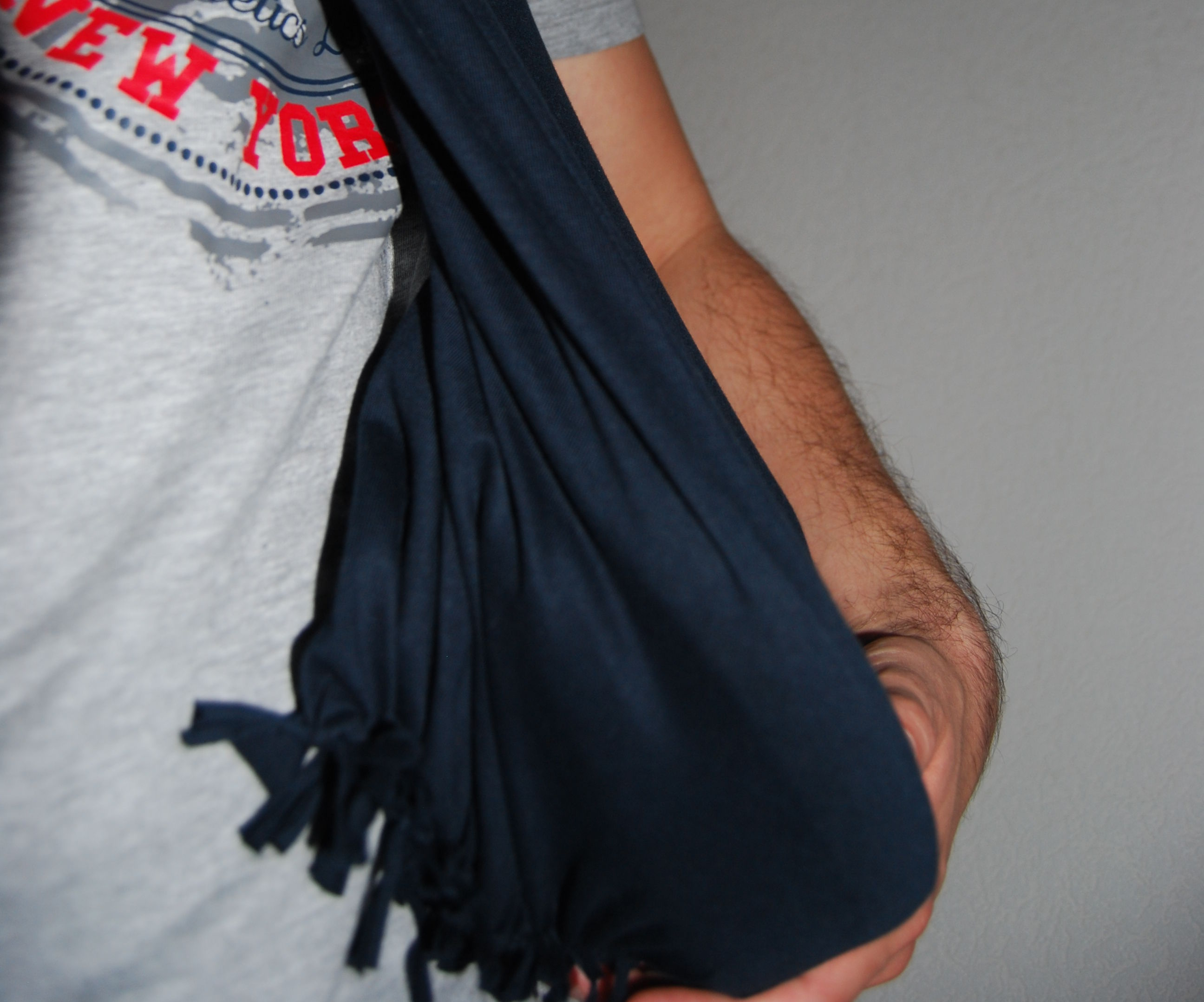 Survival Bag / scarf from a t-shirt