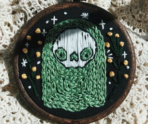 Cute Ghost Embroidery Tutorial