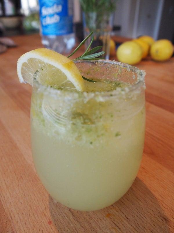 Rosemary Sparkling Lemonade