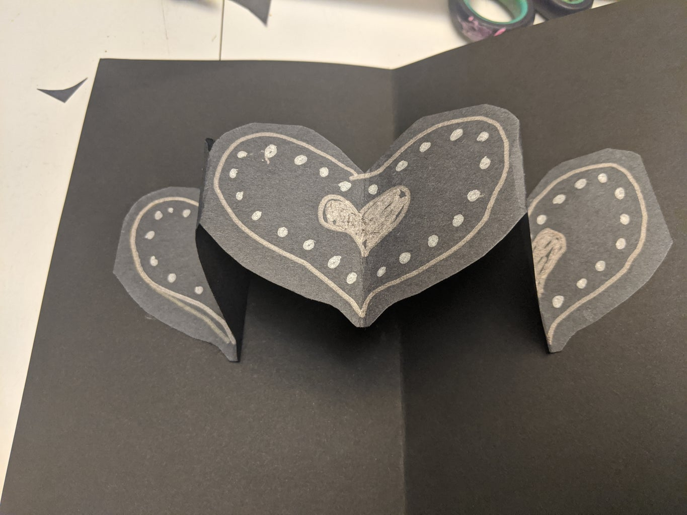 Glue the Heart Chain to the Inside of the Card.