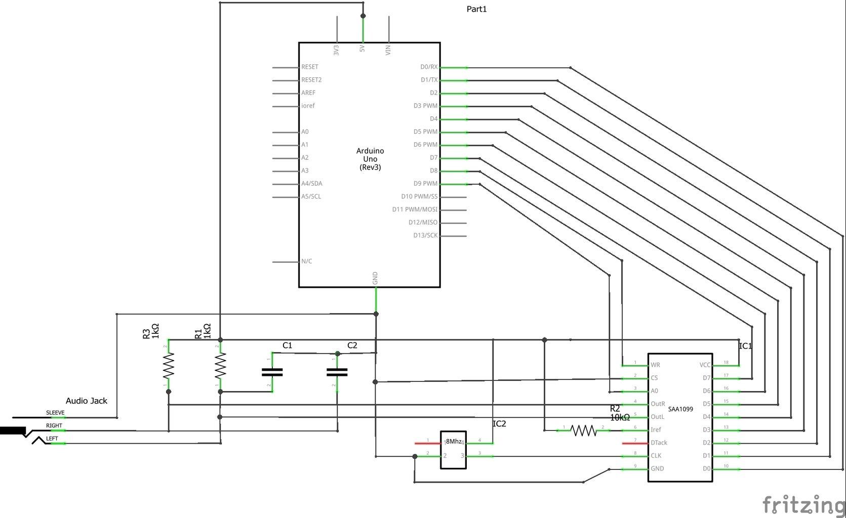 Wiring - SAA1099