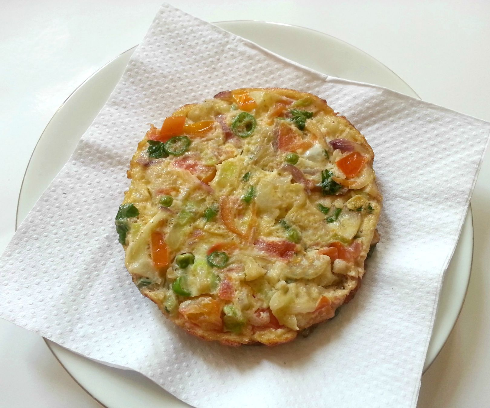 Delicious Vegetable Omelette