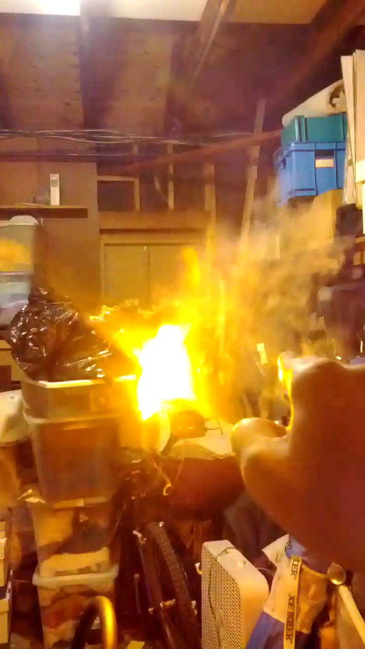 Handheld Fireball Launcher Magic Trick