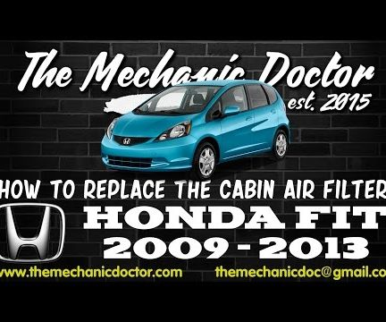 How to Replace the Cabin Air Filter : Honda Fit 2009-2013