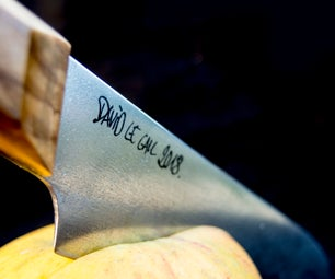 How to Put a Logo on Knife Blade : Laser Engraving