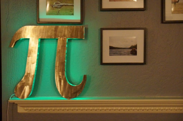 How to Make a Glowing Metal Sign (For Pi Day!)