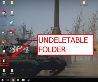Deleting an Undeletable Folder