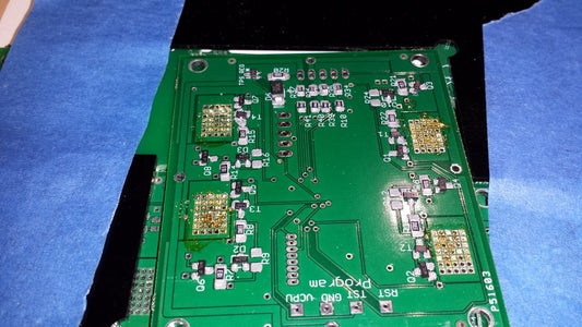 Apply Low Temperature Solder Paste and Place Parts