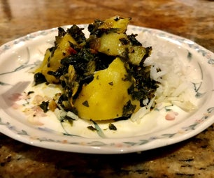 Aloo Saag  (Potato Spinach Curry)