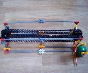 Knex  Conveyor Belt (bends Pieces a Little)
