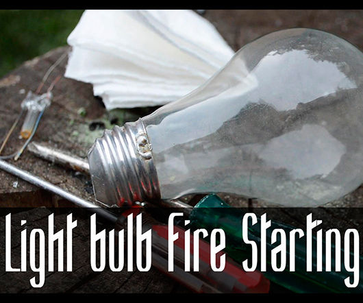 How to Start a Fire with a Light Bulb