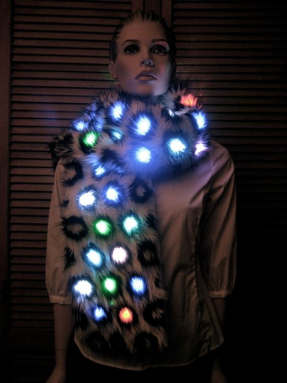 How to Make a Color-Changing Lighted Faux Fur Scarf