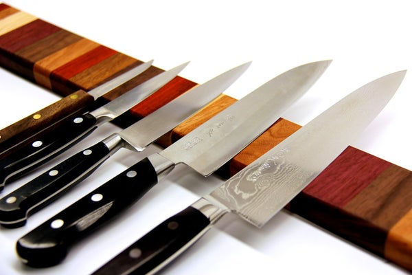 Rainbow Wood Magnetic Knife Strip