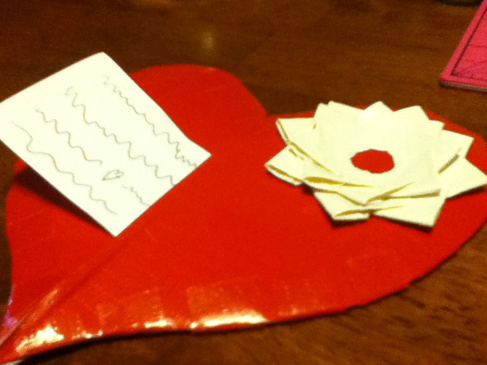 Unique Heart Shaped Duct Tape Card!