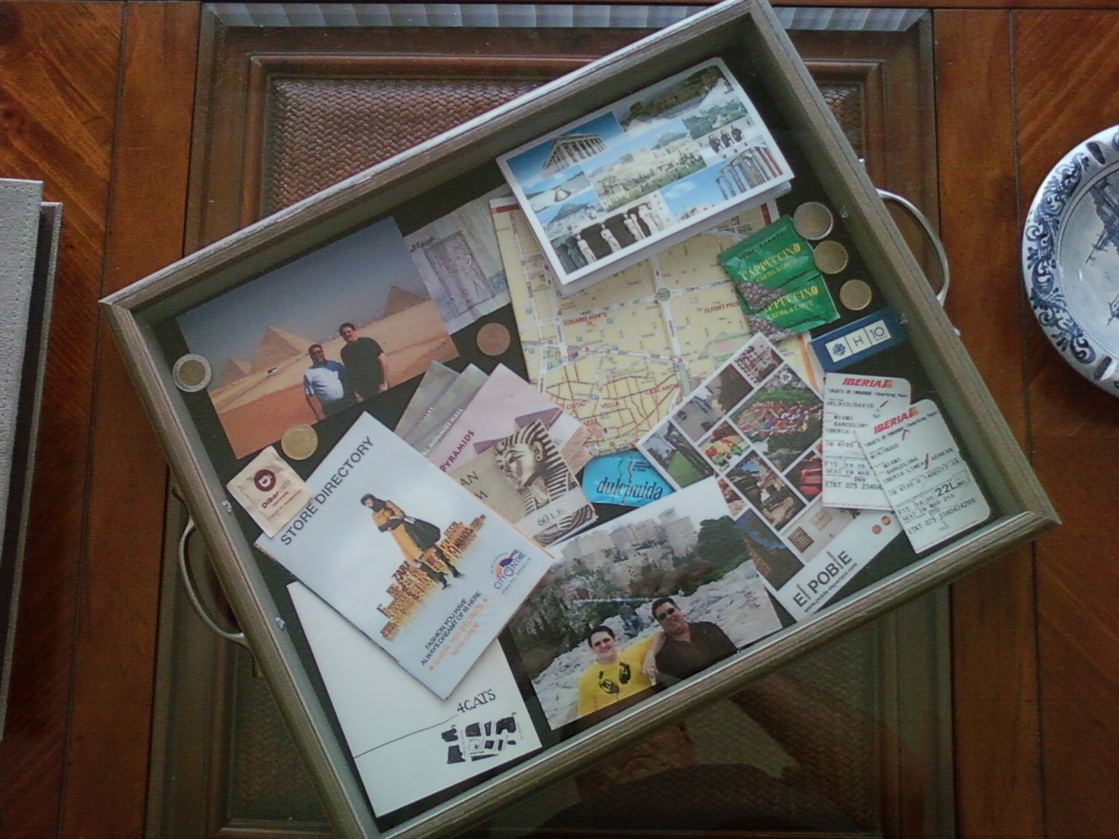 Decorative shadowbox serving tray