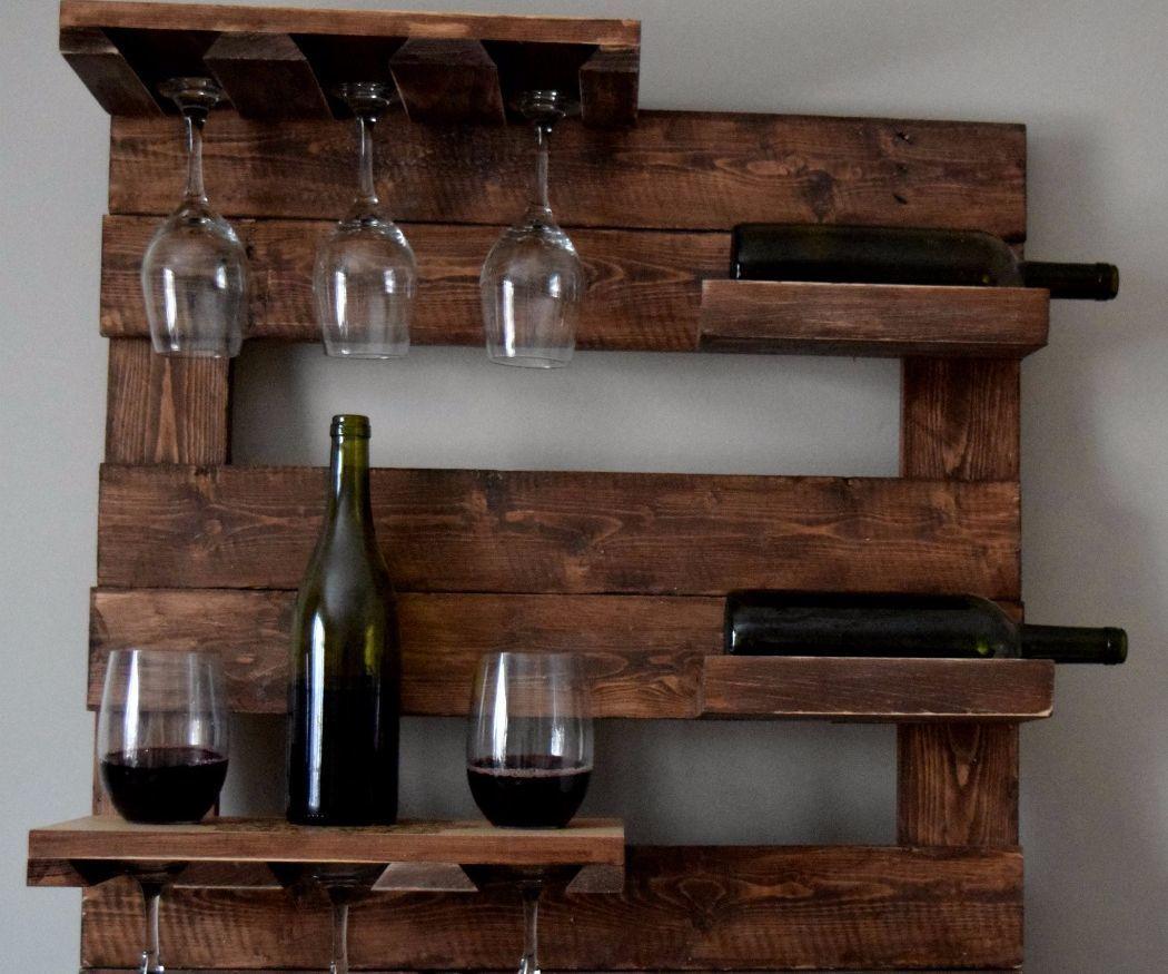Palette Wood Wine Rack