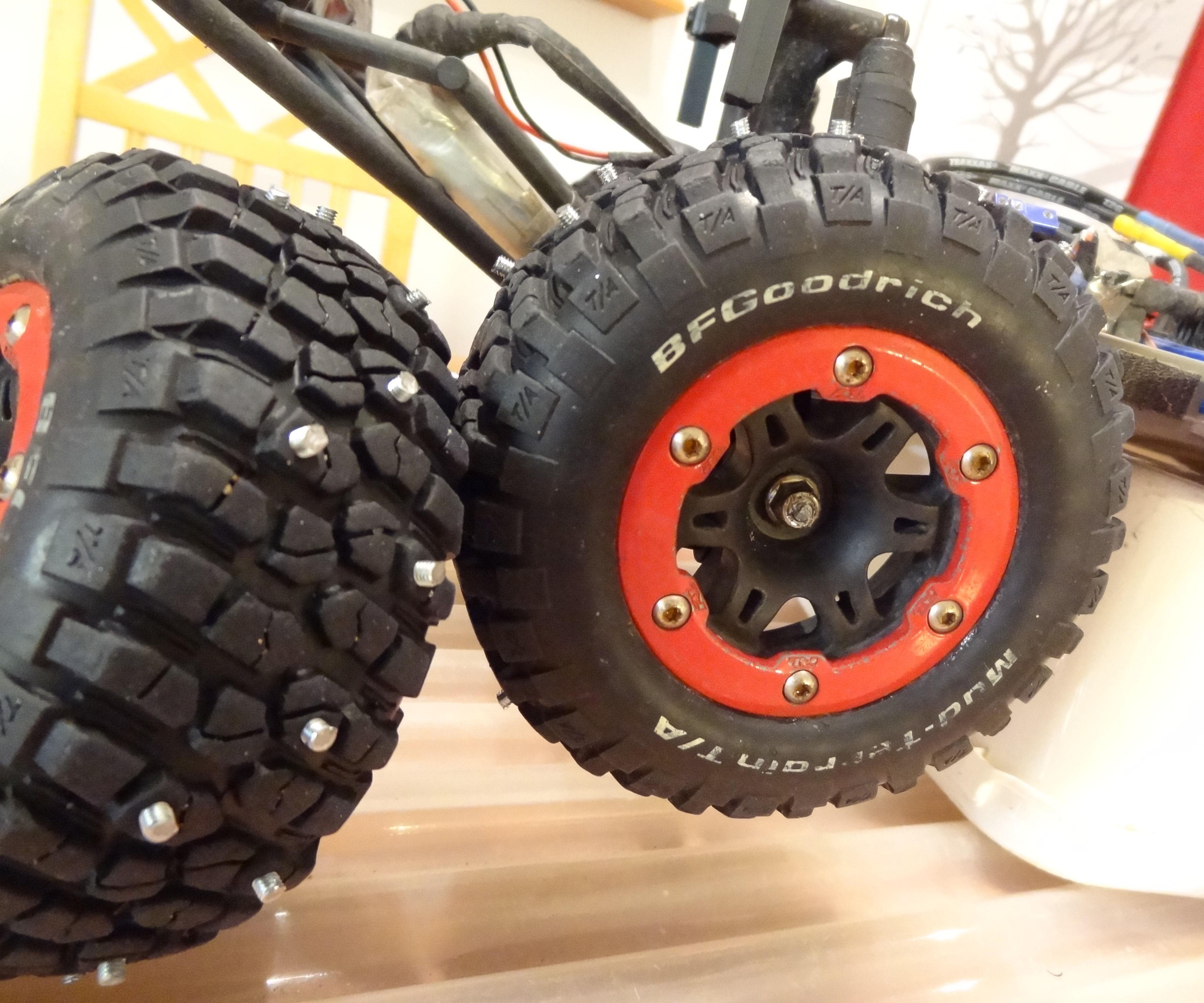RC Car Studded Tires
