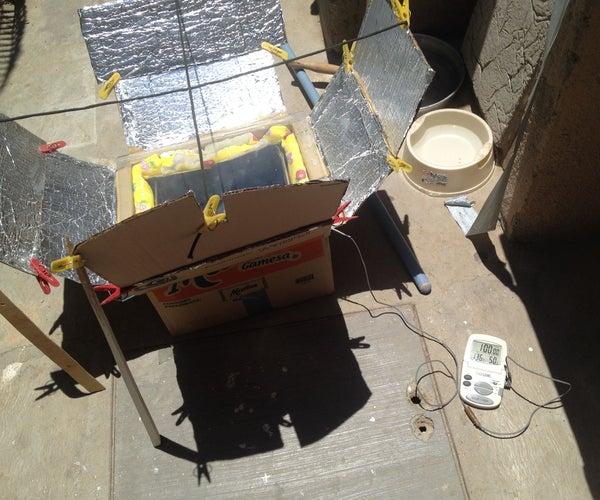 Free Solar Box Cooker