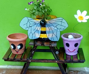 How to Turn Plastic Container(s) Into Bumblebee Plant Pot, Plastic Flower Etc