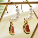 Beebeecraft Tutorials on How to Make Pearl Watermelon Earrings