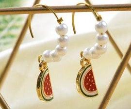 Beebeecraft Tutorials on How to Make Pearl Watermelon Earrings
