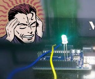 Mind Controlled Light Using Arduino    Poor Man's EEG Sensor