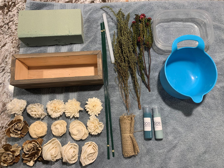 Easy Handmade Wood Flower Centerpiece