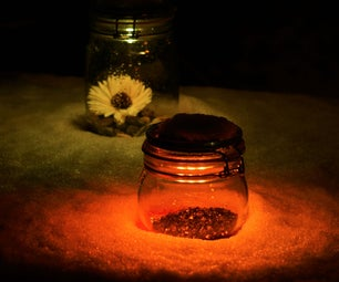 Colorful Solar Garden Jar Light