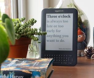 Literary Clock Made From E-reader