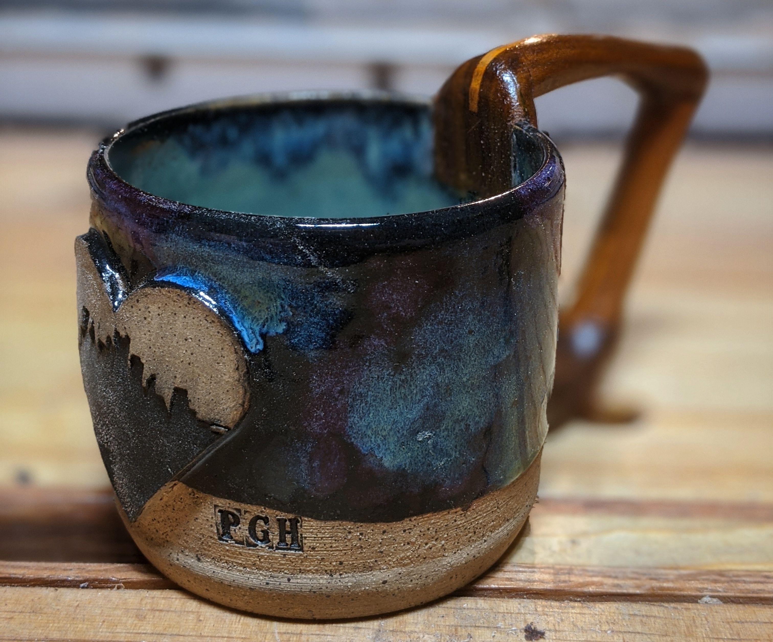 Ceramic Mug With Wooden Handle