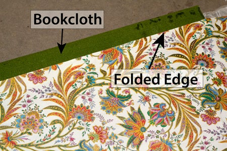 Glue Cover Paper to Front & Back Cover Bookboards