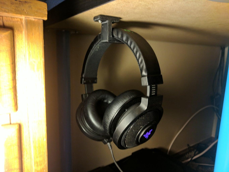 Under Desk Headphone Hook