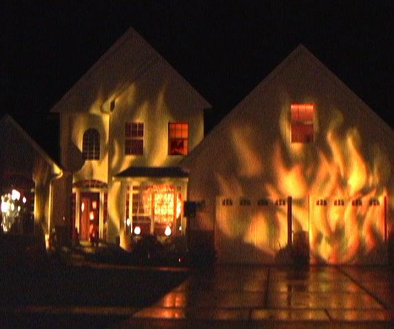 Fire House Halloween Display