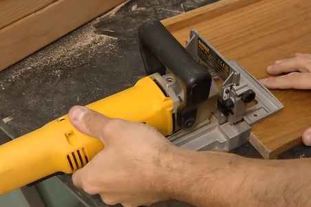 Using Plate Joiner / Lamello Wood Biscuit Joiner