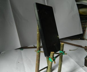 Mobile Phone Stand Using Sticks