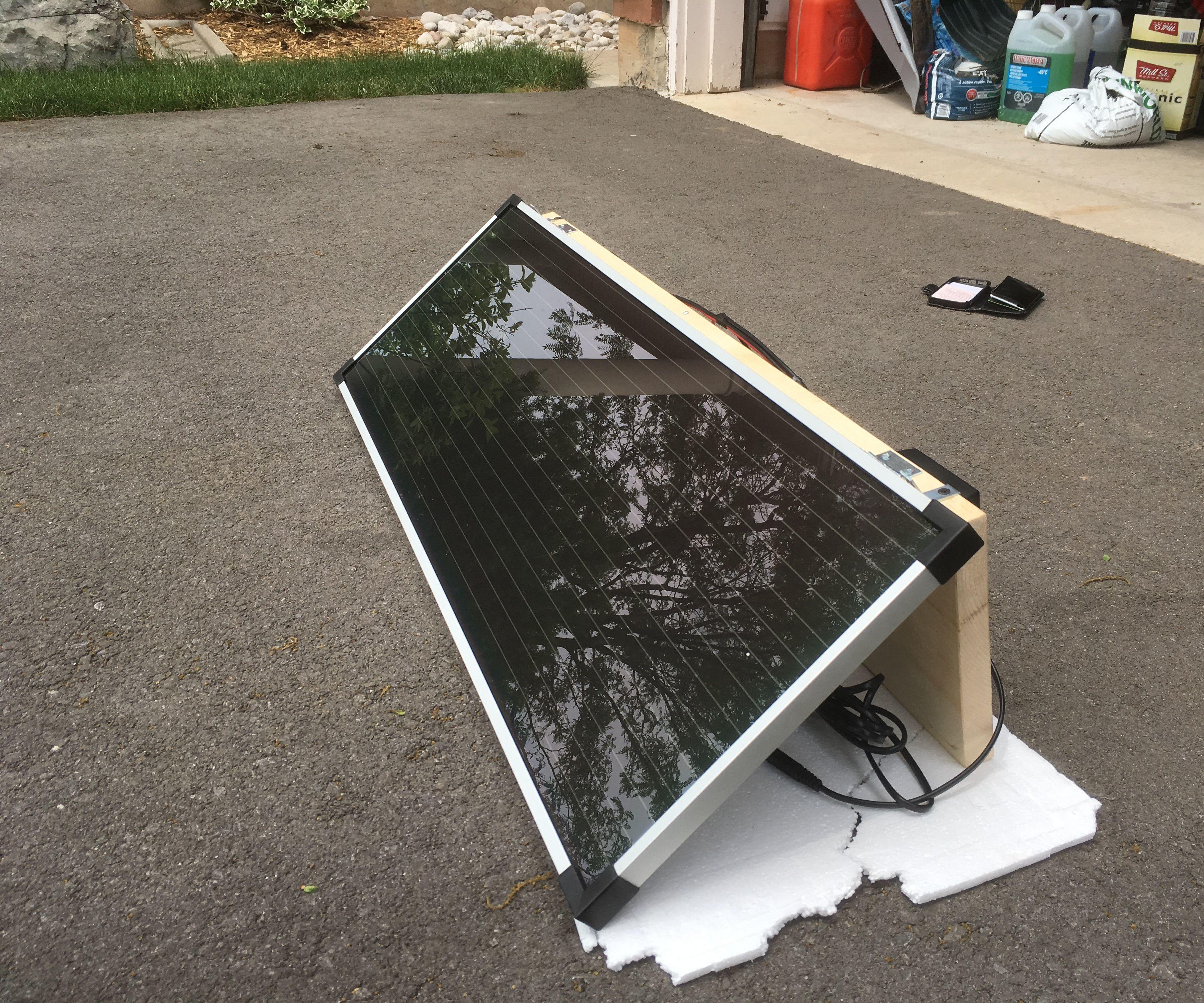 Portable Low Cost DIY Solar Panel Setup