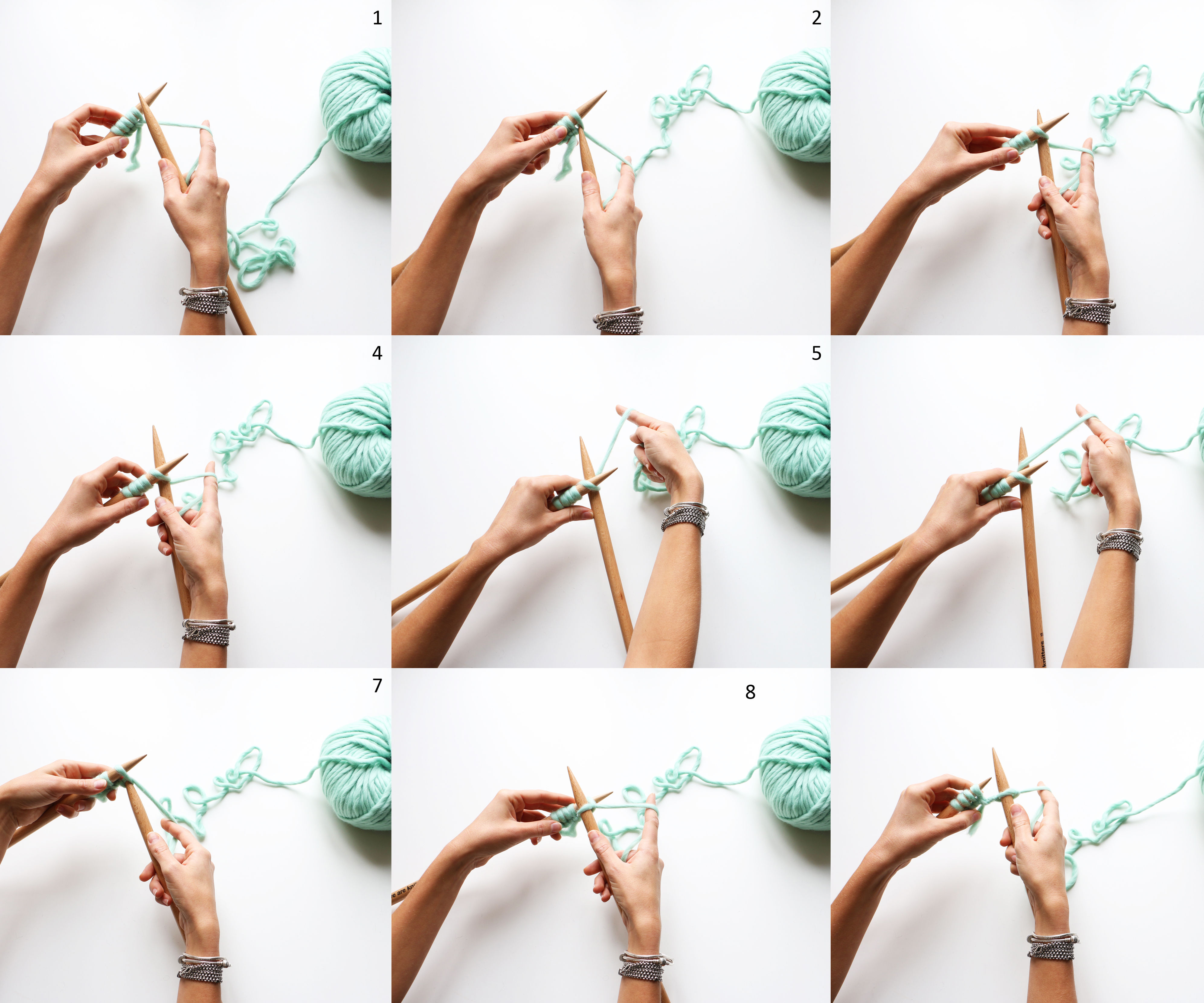 How to knit stitches