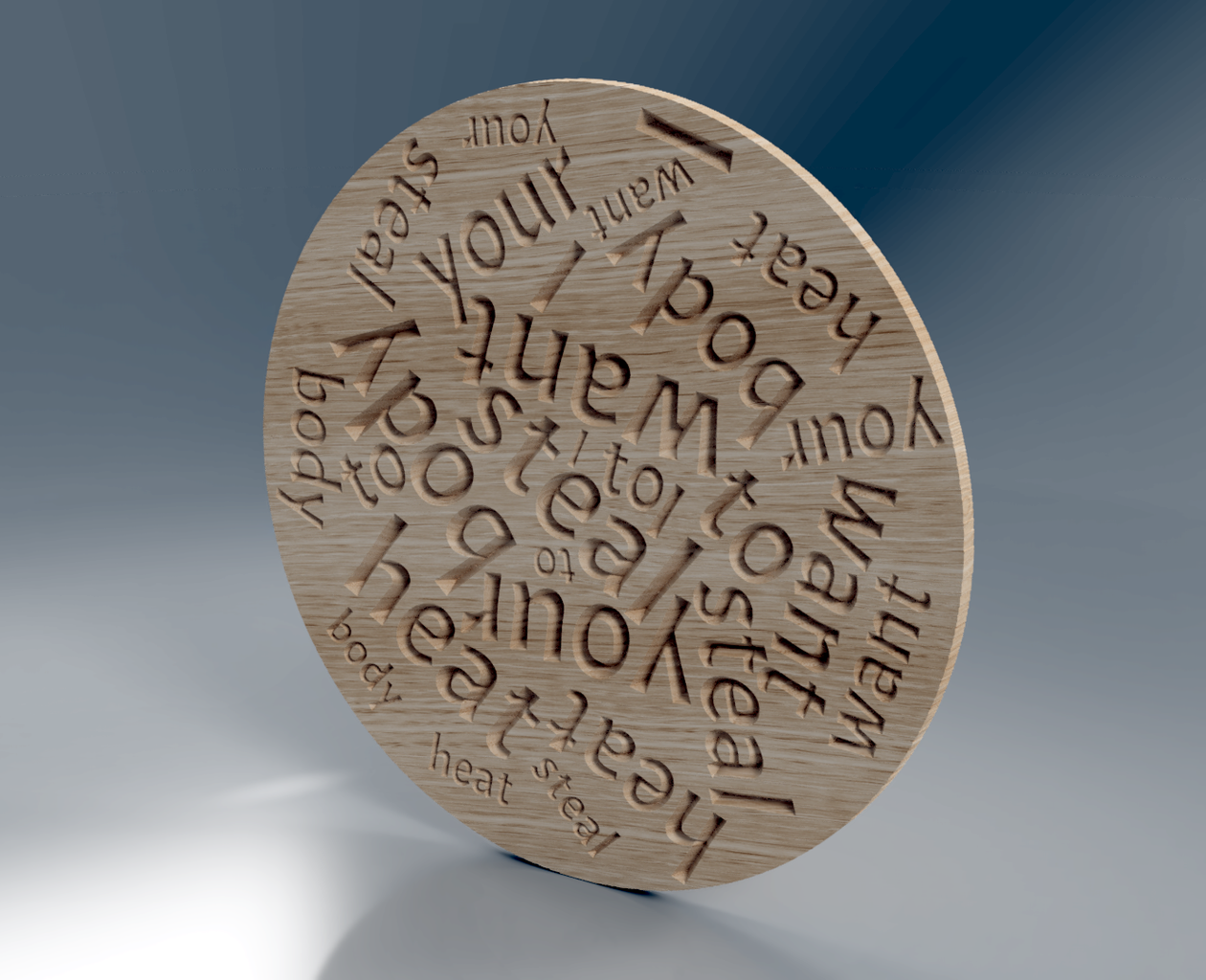 V-carving 'Hidden Messages' on Wood Using Wordclouds.com, Inkscape, Carbide Create and a CNC Machine