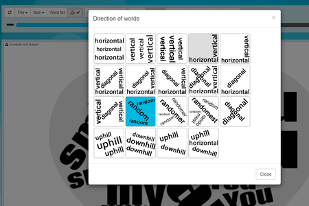 Generate the Pseudo Word Cloud