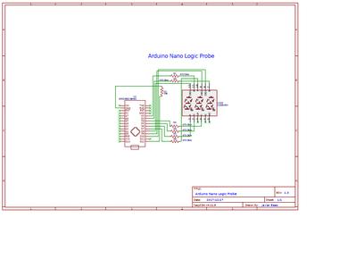 Arduino Nano Logic Probe's Diagram