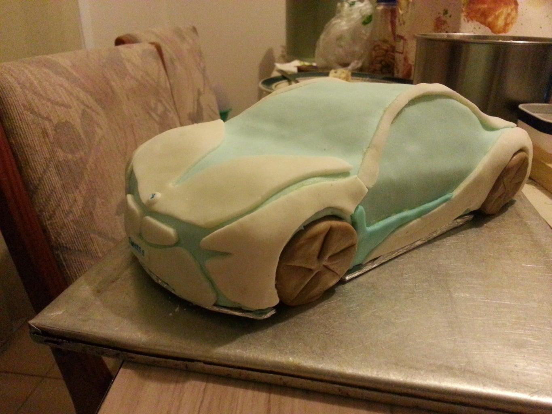 BMW I8 Concept Cake V2