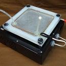 Kirlian homemade photography device.