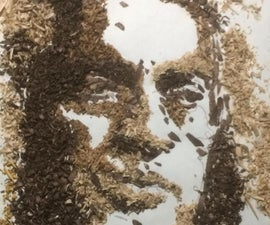 Making a Collage Portrait Recycling Wood Shavings
