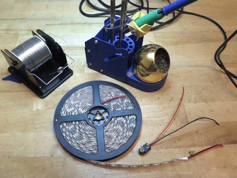 Soldering the Hyperdrive LEDs
