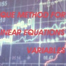 Unique Method for Solving Linear Equations in Two Variables